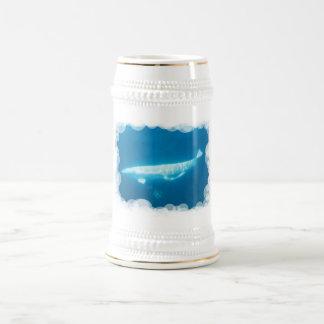 Cerveza Stein de las ballenas de la beluga de la n Jarra De Cerveza