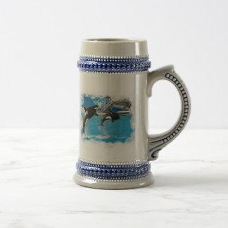 Cerveza Stein de las ballenas de la orca Taza De Café