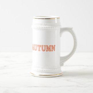Cerveza Stein de las hojas de otoño Tazas