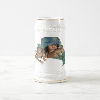 Cerveza Stein de las reflexiones de la sirena Jarra De Cerveza