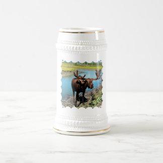 Cerveza Stein de los alces de Bull Jarra De Cerveza