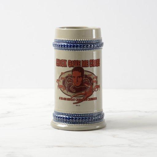¡Cerveza Stein de los cangrejos de la tirada! Tazas De Café