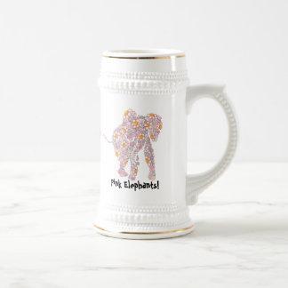 Cerveza Stein de los elefantes rosados Jarra De Cerveza