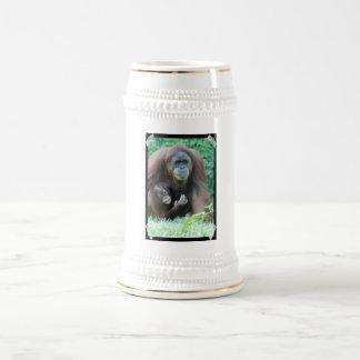 Cerveza Stein de los orangutanes Jarra De Cerveza