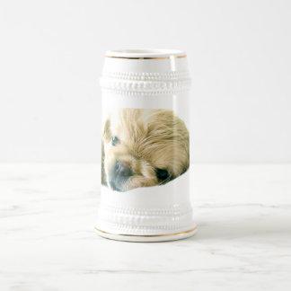 Cerveza Stein de los perritos de Pekingese Tazas