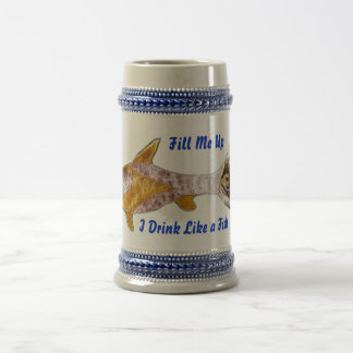 Cerveza Stein de los pescados de Sun Taza De Café