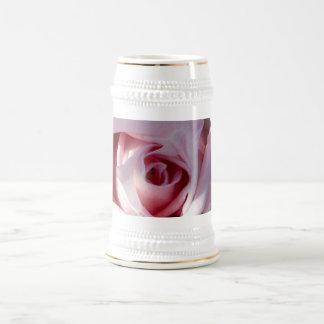 Cerveza Stein de los pétalos color de rosa Jarra De Cerveza
