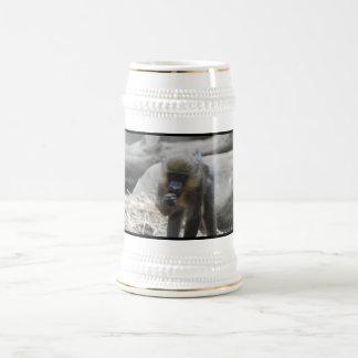 Cerveza Stein de Mandrill del bebé Jarra De Cerveza