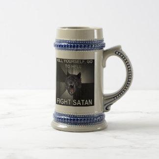 Cerveza Stein de Satan de la lucha Jarra De Cerveza