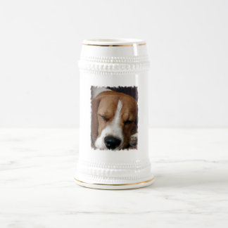 Cerveza Stein del beagle el dormir Jarra De Cerveza