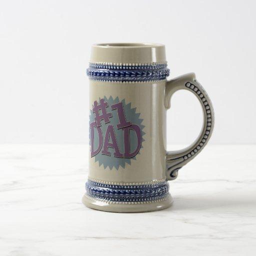 Cerveza Stein del campanero del papá del número 1 Taza