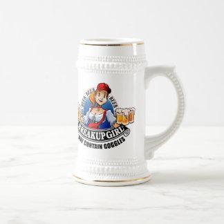 Cerveza Stein del chica de la desintegración (*May Tazas De Café