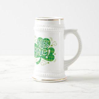 Cerveza Stein del día del St. Patricks Jarra De Cerveza