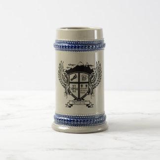 Cerveza Stein del escudo de Denver H3 Tazas De Café