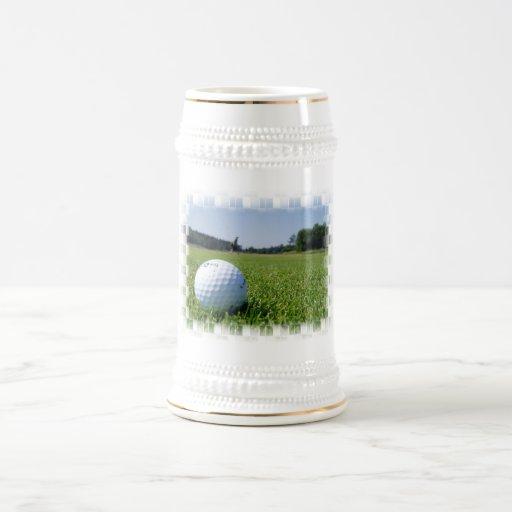Cerveza Stein del espacio abierto del golf Tazas