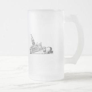 Cerveza Stein del fax del capitolio Taza De Cristal