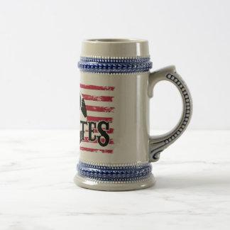 Cerveza Stein del fútbol de los E.E.U.U. Tazas