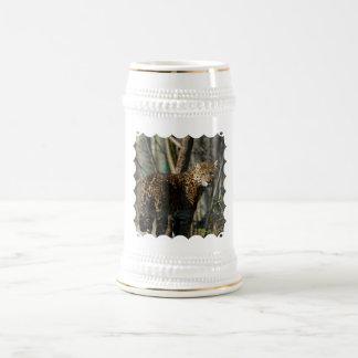 Cerveza Stein del gato de Jaguar Tazas De Café