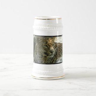 Cerveza Stein del gato de pantera Tazas De Café