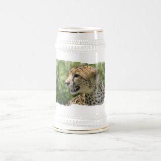 Cerveza Stein del guepardo del gruñido Tazas De Café