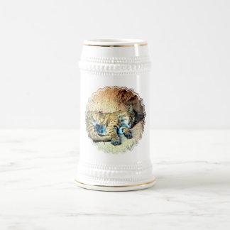 Cerveza Stein del hábitat del lince Jarra De Cerveza