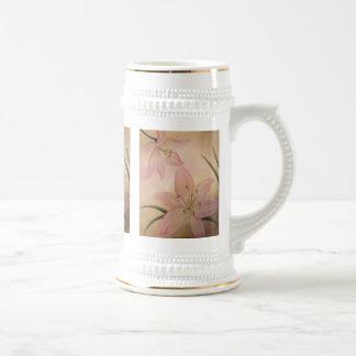 Cerveza Stein del lirio Tazas De Café