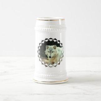 Cerveza Stein del lobo gris Jarra De Cerveza