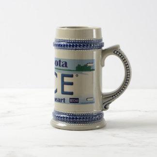 Cerveza Stein del logotipo de Minnesota Nice® Tazas