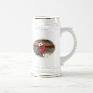 Cerveza Stein del Macaw del escarlata Tazas De Café
