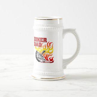 Cerveza Stein del papá del motorista Tazas