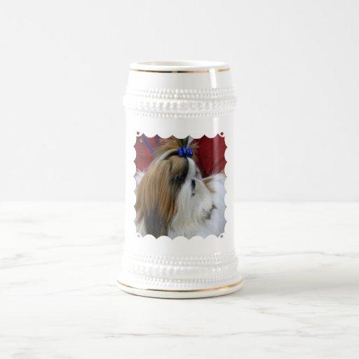 Cerveza Stein del perro de Shih Tzu Tazas