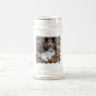 Cerveza Stein del perro del collie Tazas