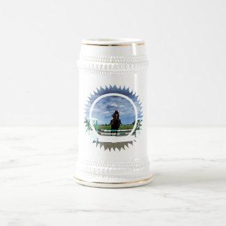 Cerveza Stein del puente del caballo Taza