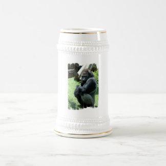 Cerveza Stein del resplandor del gorila Jarra De Cerveza