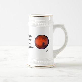 "Cerveza Stein del ""retiro"" de Marte Taza De Café"