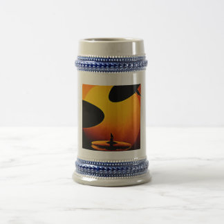 Cerveza Stein del tambor o del batería o taza