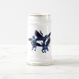 Cerveza Stein del trío de Pegaso Jarra De Cerveza