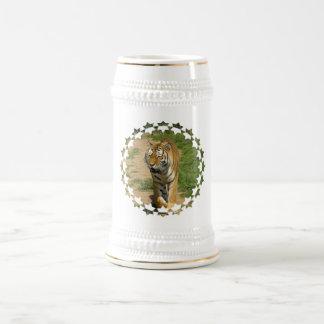 Cerveza Stein del vagabundeo del tigre Taza De Café