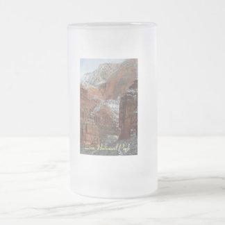 Cerveza Stein del vidrio esmerilado del parque Taza De Cristal