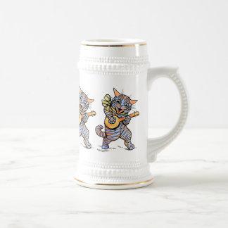 Cerveza Stein Gatos musicales de Louis Wain Tazas De Café