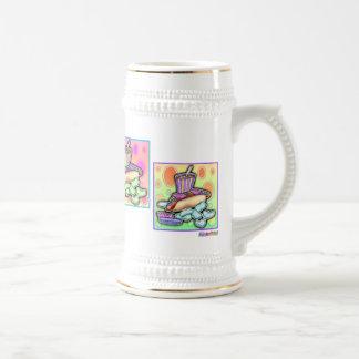 Cerveza, Stein - perrito caliente del arte pop con Tazas De Café