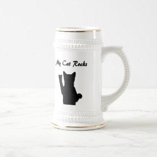 Cerveza Stien del gato de Rockin Tazas De Café
