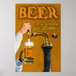 Cerveza su cuál está para la cena posters
