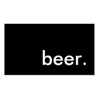 cerveza tarjetas de visita