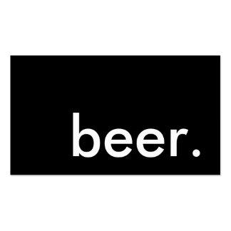 cerveza. tarjeta de sacador de la lealtad tarjetas de visita