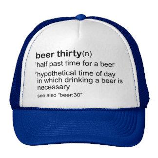 Cerveza treinta gorro de camionero