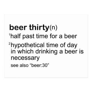 Cerveza treinta postal