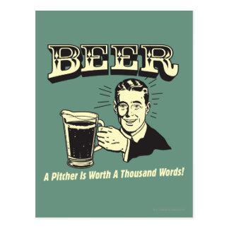 Cerveza: Una jarra vale 1000 palabras Tarjeta Postal