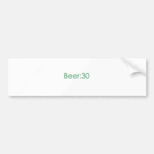 Cerveza: Verde 30 Etiqueta De Parachoque