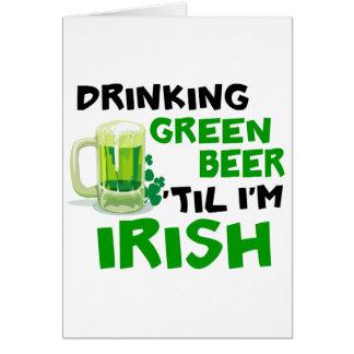 Cerveza verde de consumición 'hasta que soy el irl tarjeton